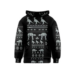 Holiday Party Attire Ugly Christmas Black Background Kids  Pullover Hoodie
