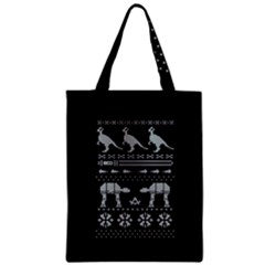 Holiday Party Attire Ugly Christmas Black Background Zipper Classic Tote Bag