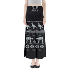 Holiday Party Attire Ugly Christmas Black Background Maxi Skirts
