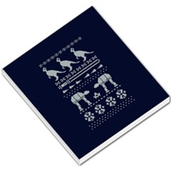 Holiday Party Attire Ugly Christmas Blue Background Small Memo Pads