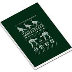 Holiday Party Attire Ugly Christmas Green Background Large Memo Pads