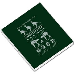 Holiday Party Attire Ugly Christmas Green Background Small Memo Pads