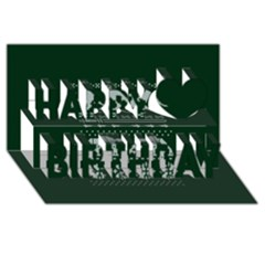 Holiday Party Attire Ugly Christmas Green Background Happy Birthday 3d Greeting Card (8x4)