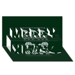 Holiday Party Attire Ugly Christmas Green Background Merry Xmas 3D Greeting Card (8x4)