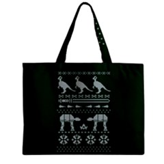 Holiday Party Attire Ugly Christmas Green Background Zipper Mini Tote Bag