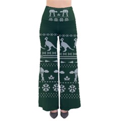 Holiday Party Attire Ugly Christmas Green Background Pants