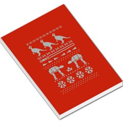 Holiday Party Attire Ugly Christmas Red Background Large Memo Pads