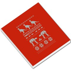 Holiday Party Attire Ugly Christmas Red Background Small Memo Pads