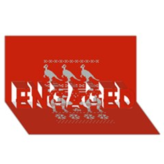 Holiday Party Attire Ugly Christmas Red Background Engaged 3d Greeting Card (8x4)