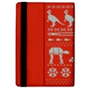 Holiday Party Attire Ugly Christmas Red Background iPad Air 2 Flip View4