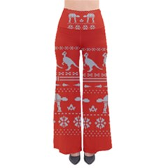 Holiday Party Attire Ugly Christmas Red Background Pants