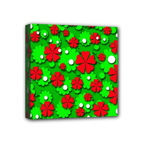 Xmas flowers Mini Canvas 4  x 4