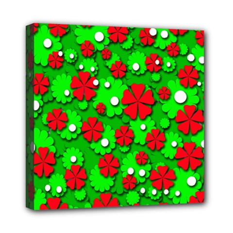Xmas flowers Mini Canvas 8  x 8