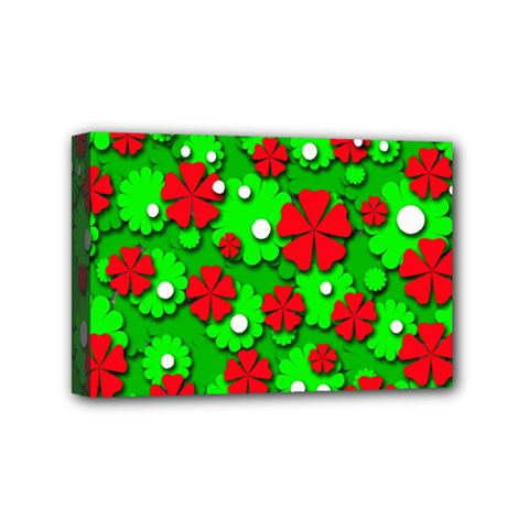 Xmas flowers Mini Canvas 6  x 4