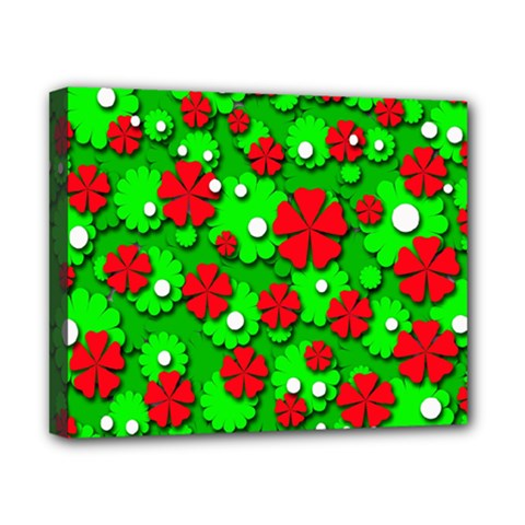 Xmas flowers Canvas 10  x 8
