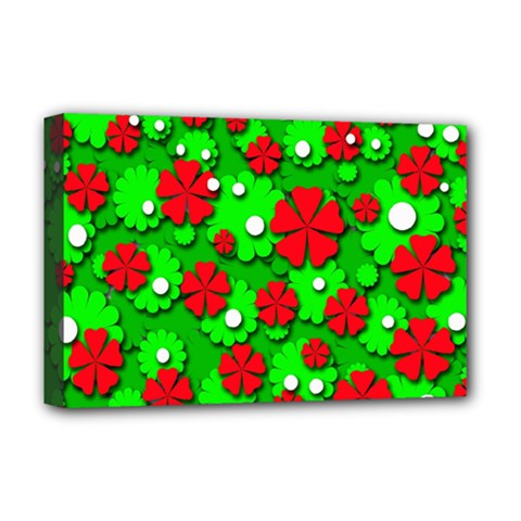 Xmas flowers Deluxe Canvas 18  x 12