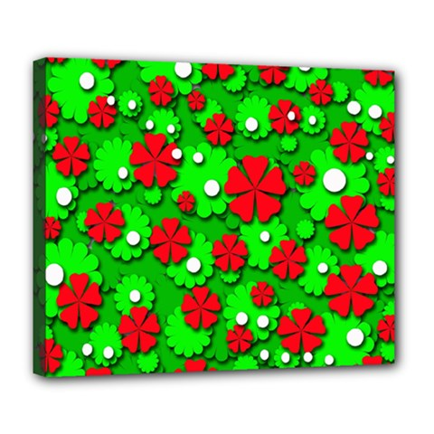 Xmas flowers Deluxe Canvas 24  x 20