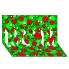 Xmas flowers MOM 3D Greeting Card (8x4)