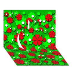 Xmas flowers Apple 3D Greeting Card (7x5)