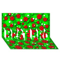 Xmas flowers BEST BRO 3D Greeting Card (8x4)
