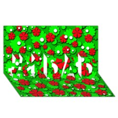 Xmas flowers #1 DAD 3D Greeting Card (8x4)