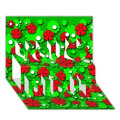 Xmas flowers You Did It 3D Greeting Card (7x5)