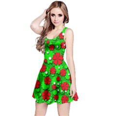 Xmas flowers Reversible Sleeveless Dress