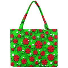 Xmas flowers Mini Tote Bag