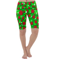 Xmas flowers Cropped Leggings