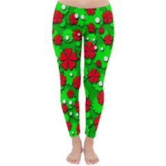Xmas flowers Classic Winter Leggings