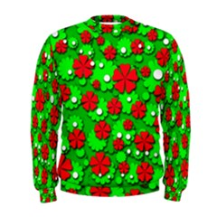 Xmas flowers Men s Sweatshirt