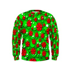 Xmas flowers Kids  Sweatshirt