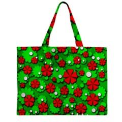 Xmas flowers Zipper Mini Tote Bag