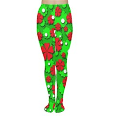 Xmas flowers Women s Tights