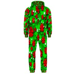 Xmas flowers Hooded Jumpsuit (Men)