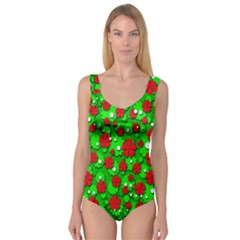 Xmas flowers Princess Tank Leotard