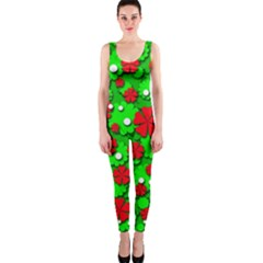 Xmas flowers OnePiece Catsuit
