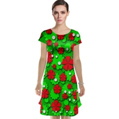 Xmas flowers Cap Sleeve Nightdress