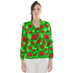 Xmas flowers Wind Breaker (Women)