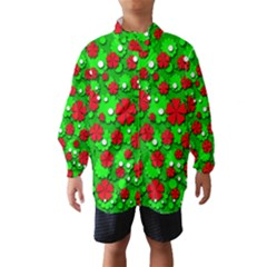 Xmas flowers Wind Breaker (Kids)