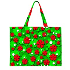 Xmas flowers Large Tote Bag