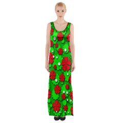 Xmas flowers Maxi Thigh Split Dress