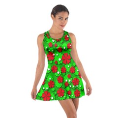 Xmas flowers Cotton Racerback Dress