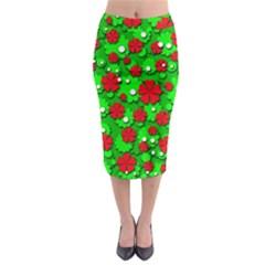 Xmas flowers Midi Pencil Skirt