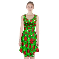 Xmas flowers Racerback Midi Dress