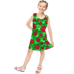 Xmas flowers Kids  Tunic Dress