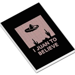 I Juan To Believe Ugly Holiday Christmas Black Background Large Memo Pads