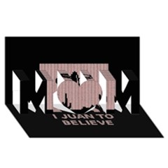 I Juan To Believe Ugly Holiday Christmas Black Background Mom 3d Greeting Card (8x4)