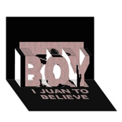 I Juan To Believe Ugly Holiday Christmas Black Background Boy 3d Greeting Card (7x5)