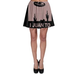 I Juan To Believe Ugly Holiday Christmas Black Background Skater Skirt